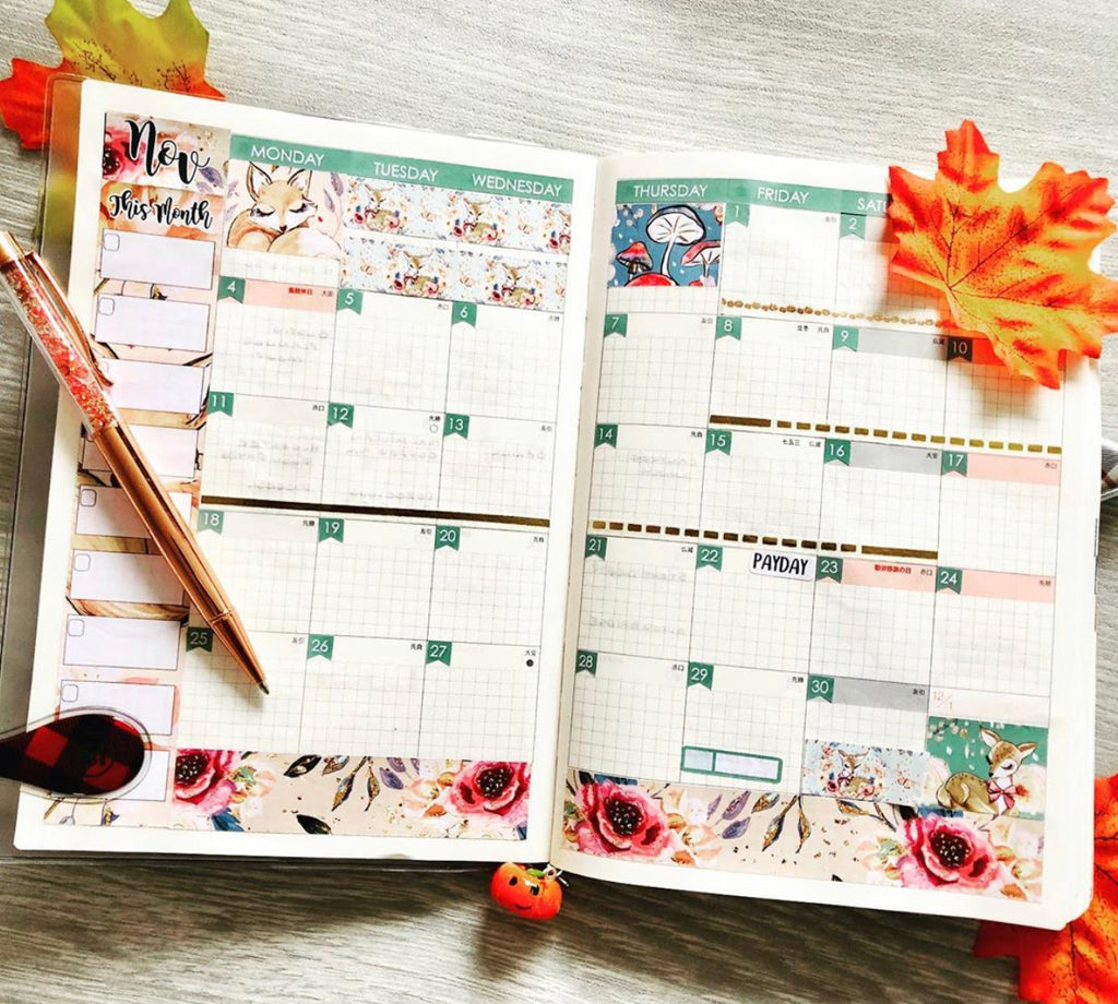 Planner monthly view