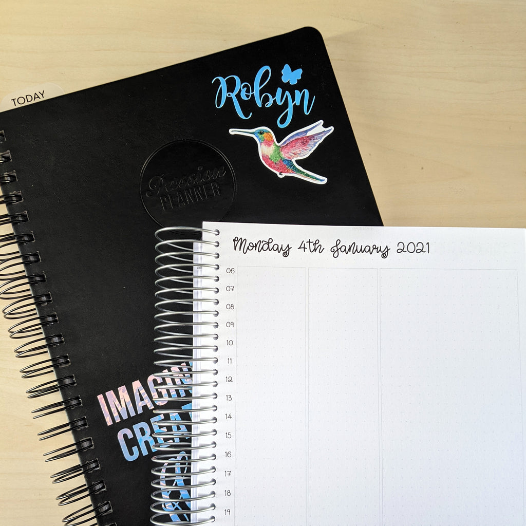 Creative planners with EBDUK stickers