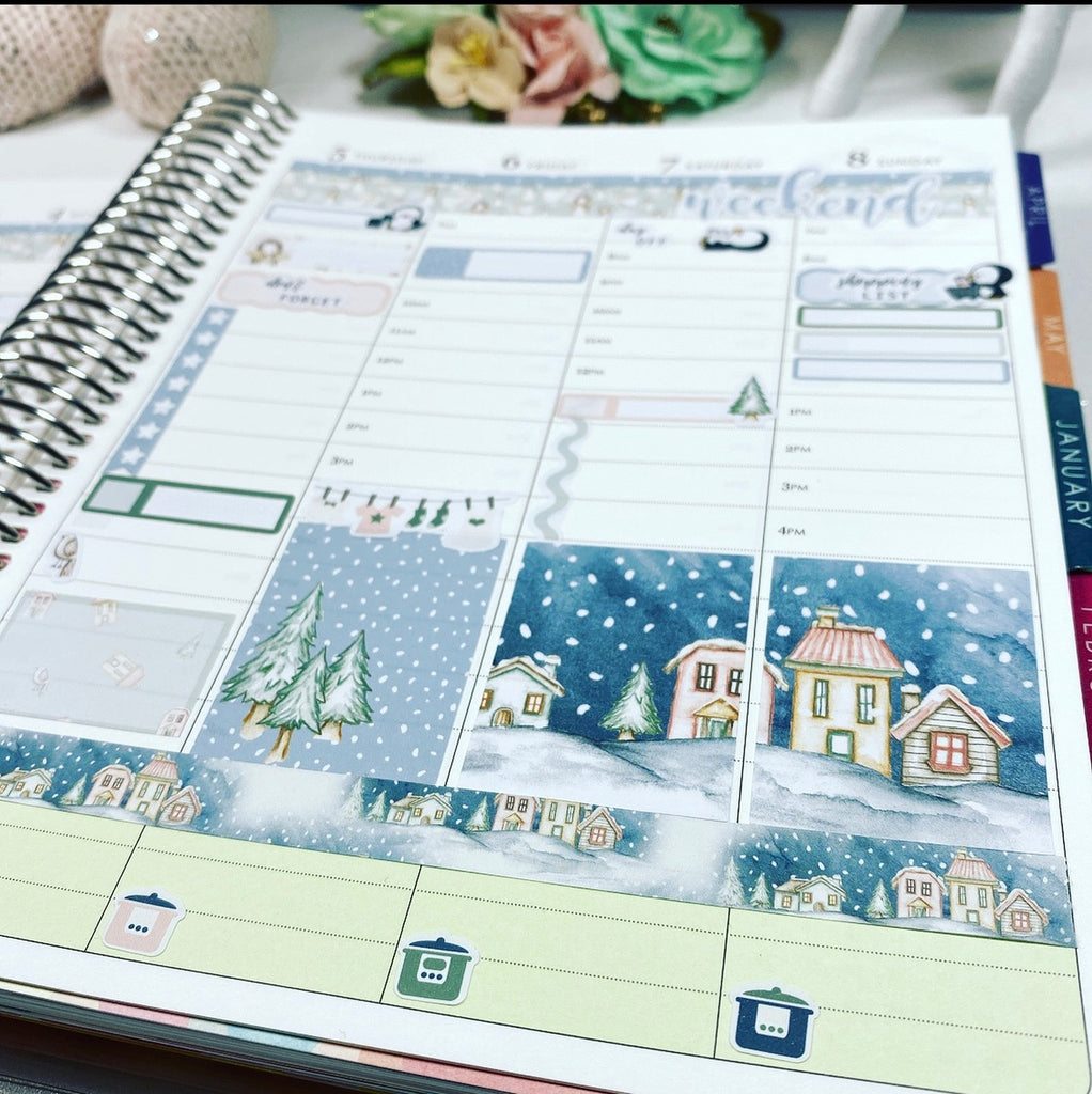 Erin Condren Christmas layout
