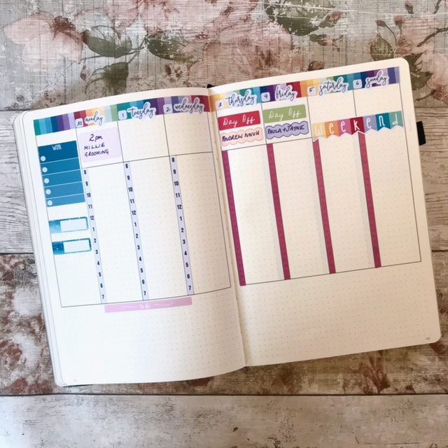 STM Bullet planner and EBDUK stickers