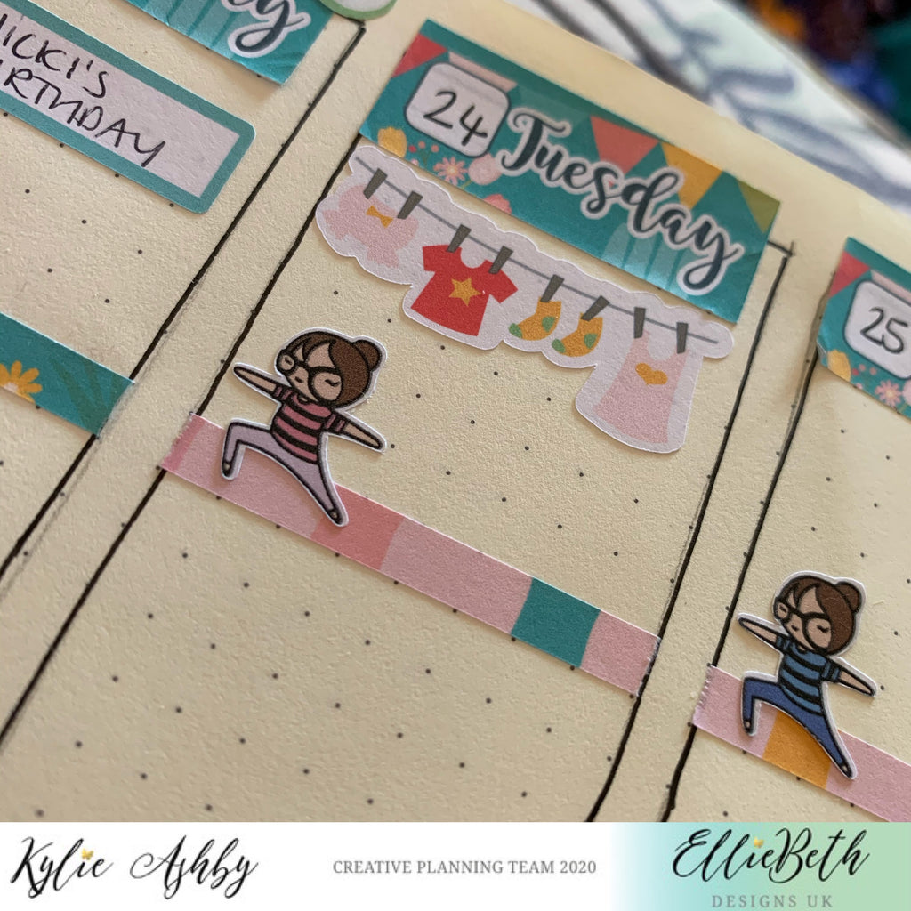 Planner layout with EBDUK stickers
