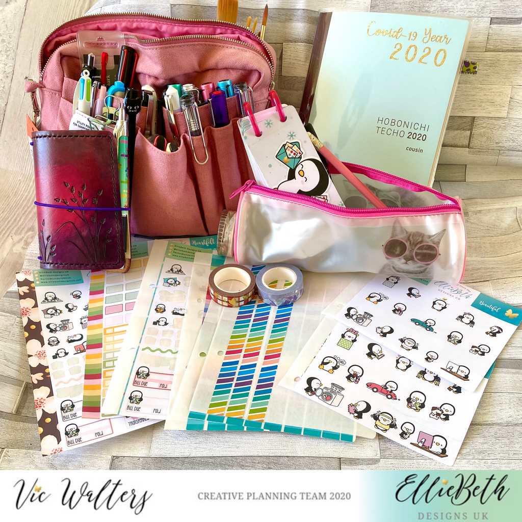 Travelling with my planner and EllieBeth Designs UK stickers