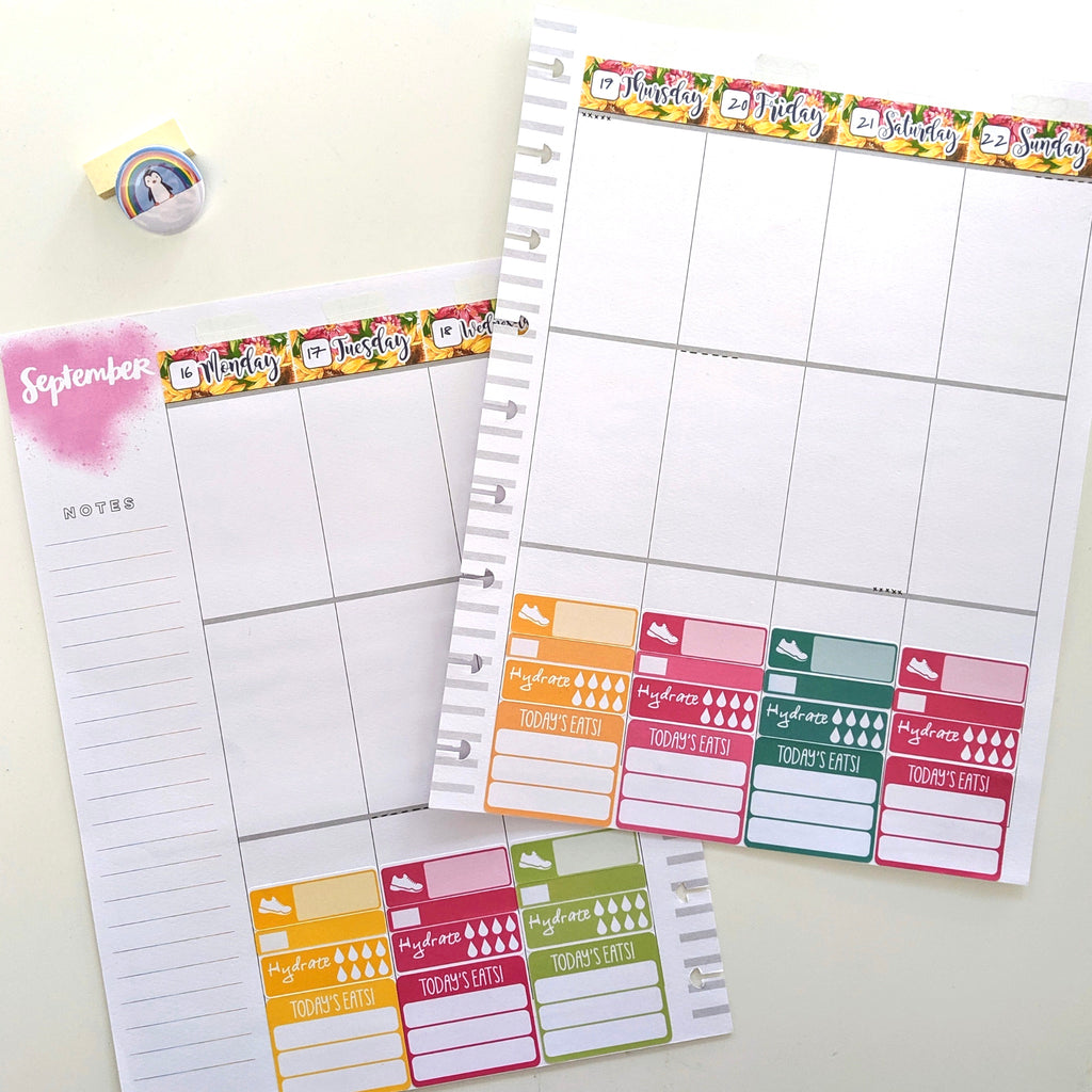 Happy Planner planning for health