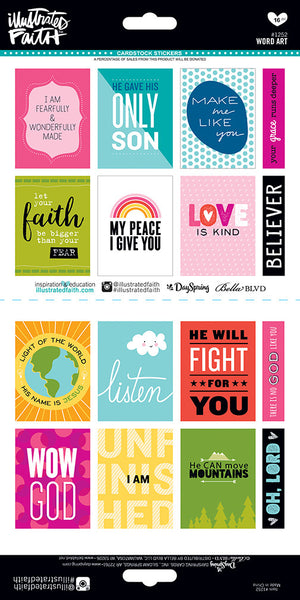 Word Art Stickers by Illustrated Faith