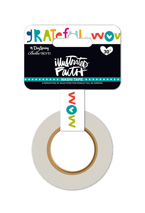 "Wow God 0.6"" Washi Tape by Illustrated Faith - EllieBeth Designs UK"