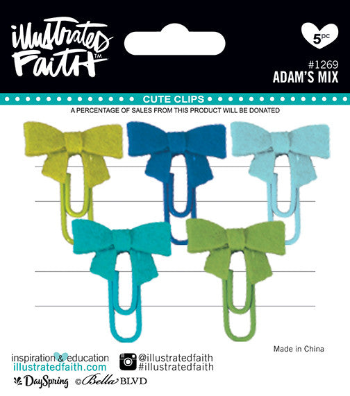 Adam's Mix Cute Clips by Illustrated Faith - EllieBeth Designs UK