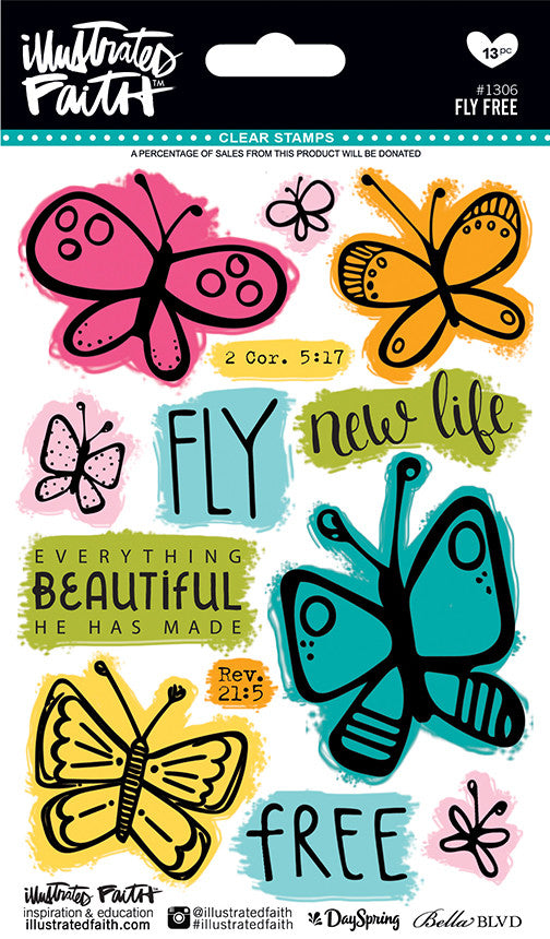 Fly Free Acrylic Stamp Set by Illustrated Faith