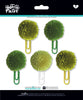 Olive You Mix Pom Pom Clips by Illustrated Faith - EllieBeth Designs UK