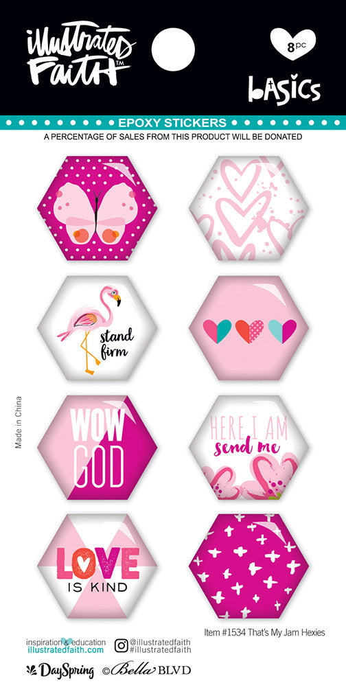 That's My Jam Hexies Stickers by Illustrated Faith