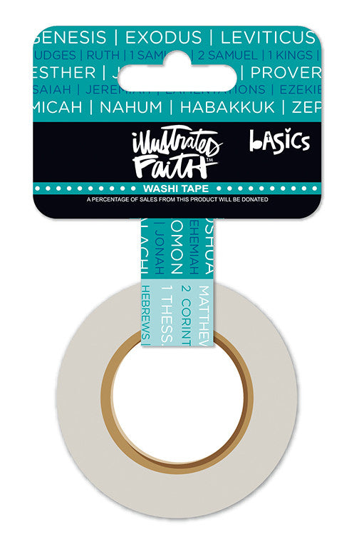 "Books of the Bible 1"" Washi Tape by Illustrated Faith - EllieBeth Designs UK"