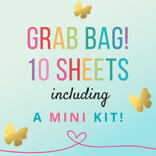 Grab Bag - 10 sheets including a 4 page kit