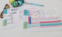 'Be Owlsome' - Notes Page Kit -  A5 binder ready planner stickers - EllieBeth Designs UK