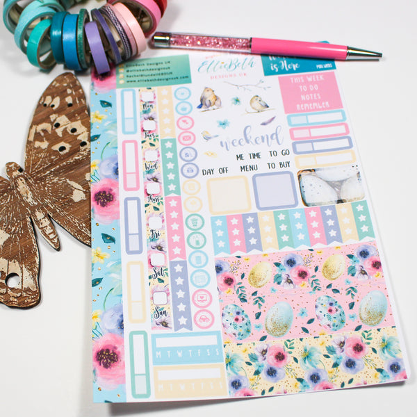 'Spread Your Wings' - Mini Weeks (Hobonichi compatible) - A5 binder ready planner stickers