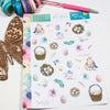 'Spread Your Wings' - Decorative Sheet -  A5 binder ready planner stickers