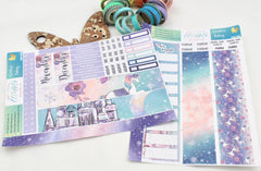 A Winter's Fantasy - Monthly View Kit -  A5 binder ready planner stickers - EllieBeth Designs UK