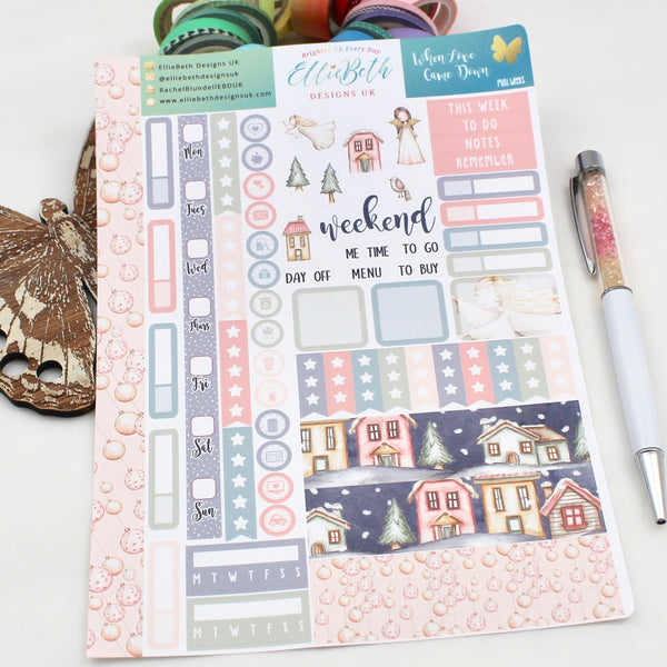 When Love Came Down - Mini Weeks (Hobonichi compatible) - A5 binder ready planner stickers - EllieBeth Designs UK