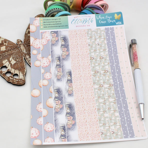 When Love Came Down - Washi Strips -  A5 binder ready planner stickers - EllieBeth Designs UK