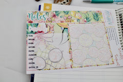 'Totally Tropical' Notes Page Kit Planner Stickers - EllieBeth Designs UK