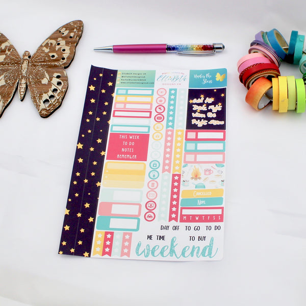 'Under the Stars' - Core Sheet -  A5 binder ready planner stickers