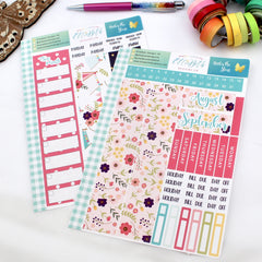 'Under the Stars' - Monthly View Kit -  A5 binder ready planner stickers