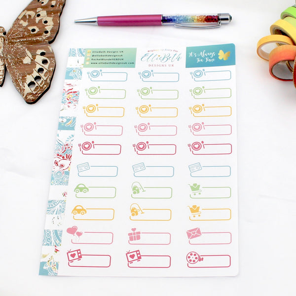 'It's Always Tea Time' - Day to Day Labels -  A5 binder ready planner stickers