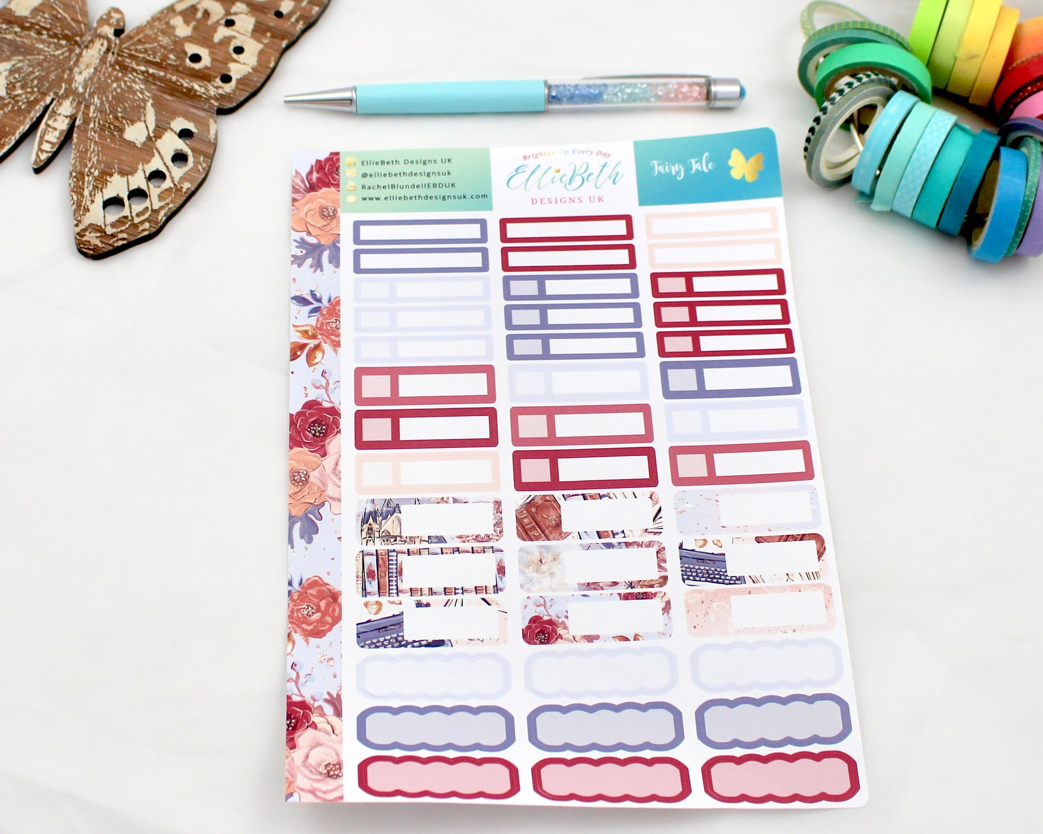 'Fairy Tale'  - Mixed Event Labels -  A5 binder ready planner stickers