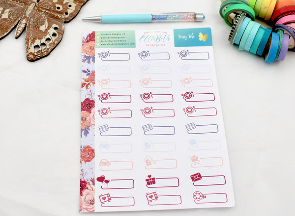 'Fairy Tale' - Day to Day Labels -  A5 binder ready planner stickers - EllieBeth Designs UK
