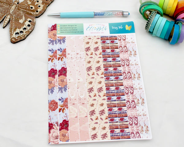 'Fairy Tale' - Washi Strips -  A5 binder ready planner stickers