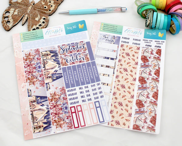 'Fairy Tale'  - Monthly View Kit -  A5 binder ready planner stickers