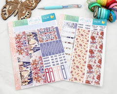 'Fairy Tale'  - Monthly View Kit -  A5 binder ready planner stickers - EllieBeth Designs UK