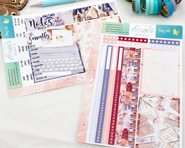 'Fairy Tale' - Notes Page Kit -  A5 binder ready planner stickers - EllieBeth Designs UK