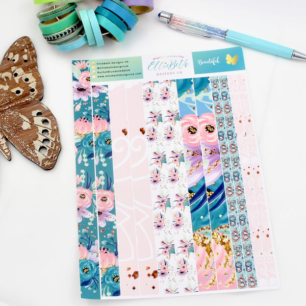 Beautiful Washi Strips Planner Stickers
