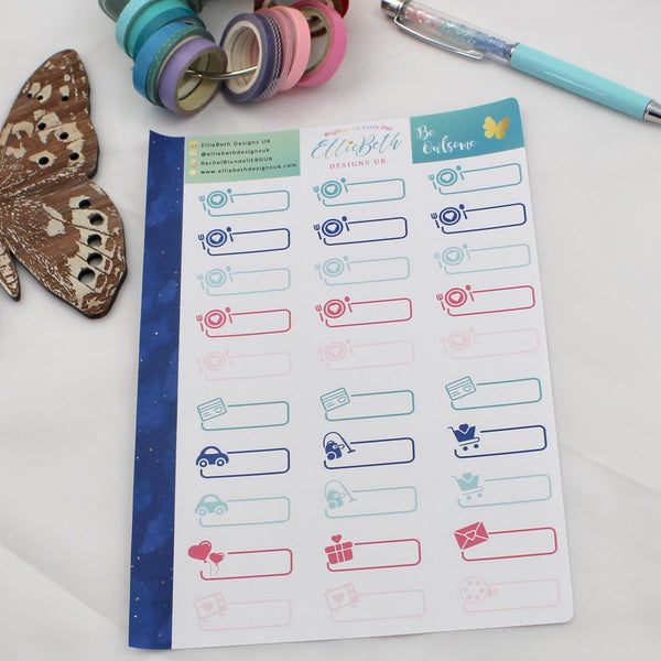 'Be Owlsome' - Day to Day Labels -  A5 binder ready planner stickers