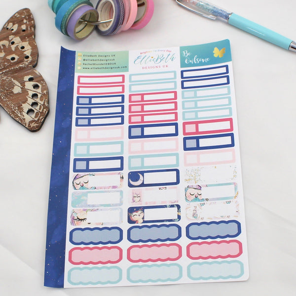 'Be Owlsome' - Mixed Event Labels -  A5 binder ready planner stickers