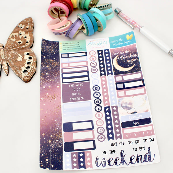 'And so the Adventure Begins' - Core Sheet -  A5 binder ready planner stickers