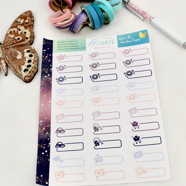 'And so the Adventure Begins' - Day to Day Labels -  A5 binder ready planner stickers