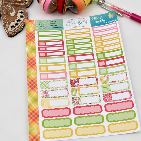 'Coffee vs Reality' - Mixed Event Labels -  A5 binder ready planner stickers