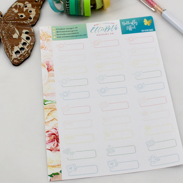 'Butterfly Effect' - Day to Day Labels - A5 binder ready planner stickers