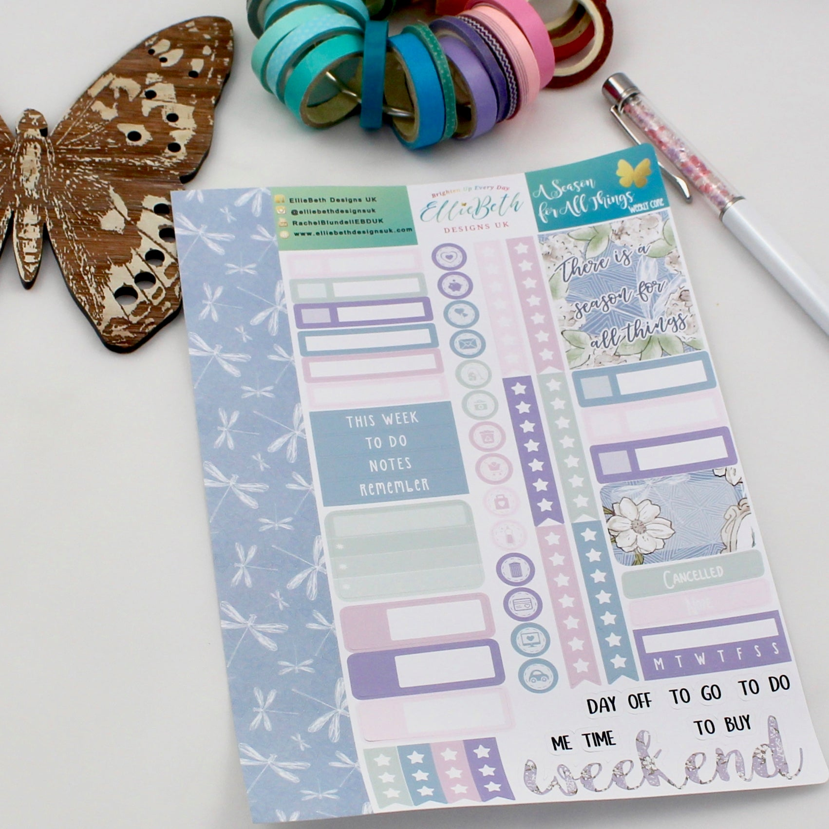 'A Season for All Things' - Weekly Core Sheet - A5 binder ready planner stickers