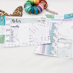 'A Season for All Things' - Notes Page Kit -  A5 binder ready planner stickers - EllieBeth Designs UK