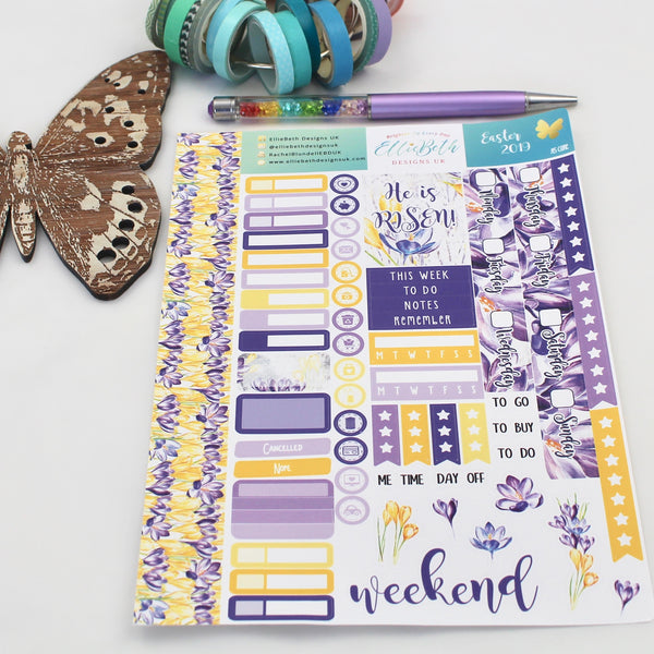 Easter 2019 - A5 Core Sheet - A5 binder ready planner stickers