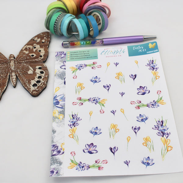 Easter 2019 - Decorative Sheet -  A5 binder ready planner stickers