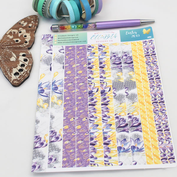 Easter 2019 - Washi Strips -  A5 binder ready planner stickers