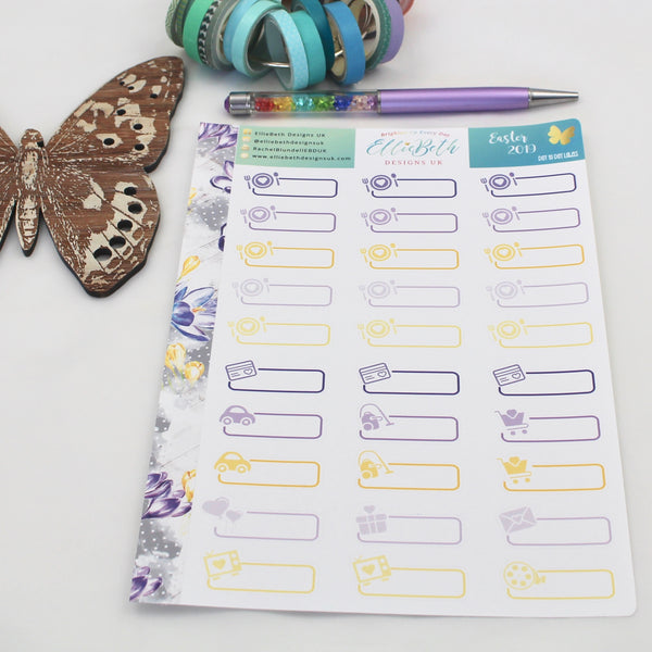Easter 2019 - Day to Day Labels - A5 binder ready planner stickers