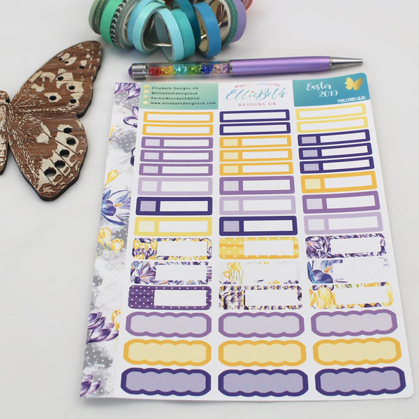 Easter 2019 - Mixed Event Labels -  A5 binder ready planner stickers