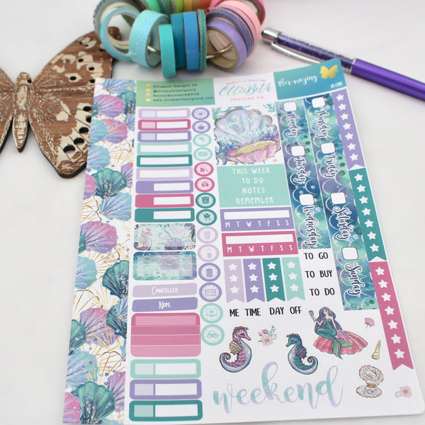 Mer-Mazing - A5 Core Sheet - A5 binder ready planner stickers