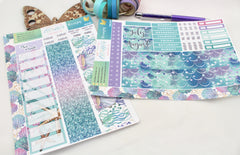 Mer-mazing - Monthly View Kit -  A5 binder ready planner stickers - EllieBeth Designs UK