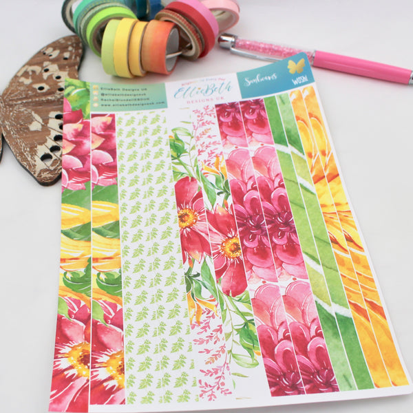 Sunbeams - Washi Strips -  A5 binder ready planner stickers