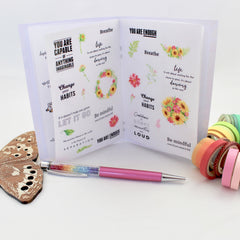 Self Care Edition: The EBDUK Little Book of Stickerating - Planner Stickers! Made to Order item - EllieBeth Designs UK