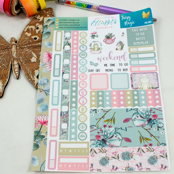 Fairy Magic - Mini Weeks (Hobonichi compatible) - A5 binder ready planner stickers